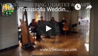 vsmusic4u string quartet and harp weddin