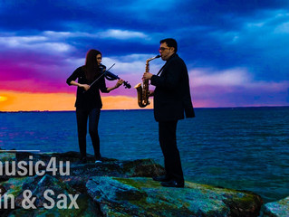 COCKTAIL HOUR AND RECEPTION DUO VIOLIN AND SAXOPHONE VSMUSIC4U- THE BEST POP HITS FOR YOUR WEDDING A