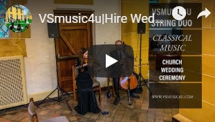 VSMUSIC4U STIRNG DUO VIOLIN CELLO WEDDIN