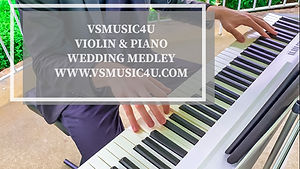 vsmusic4u wedding medley violin piano du