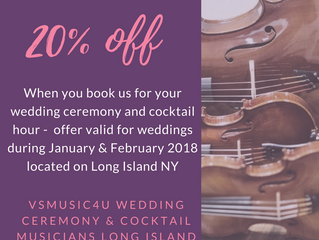 SPECIAL HOLIDAY MUSIC OFFER: BOOK VSMUSIC4U MUSICIANS ENSEMBLES  FOR YOUR WEDDING CEREMONY AND COCKT