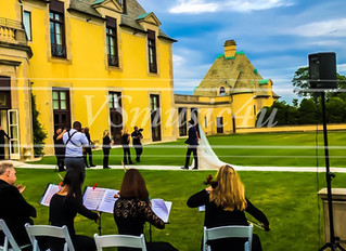 OUR WEDDING STRING QUARTET PERFORMED ON AMAZING CEREMONY AND COCKTAIL AT OHEKA CASTLE HUNTINGTON - C