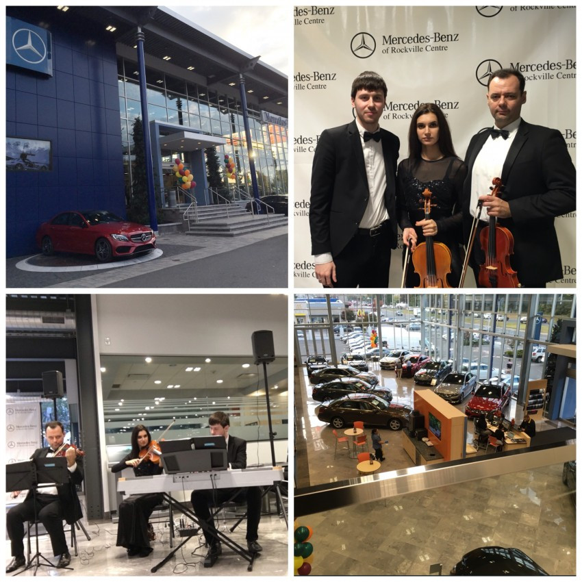 VSmusic4u Trio Piano and Two Strings Corporate Event at Mercedes Benz Long Island