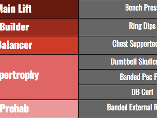 Exercise selection for intermediate lifters