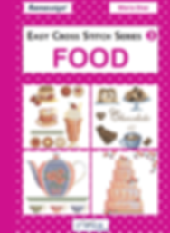 tuva publishing food, easy cross stitch series 3 food, cross stitch, maria diaz book