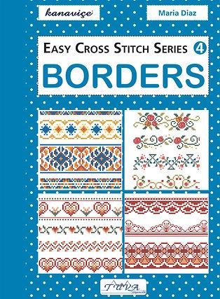tuva publishing borders, easy cross stitch series 4 borders, cross stitch, maria diaz book