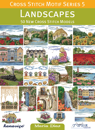 Tuva Publishing cross stitch motif series 5 landscapes Cross Stitch Motifs, maria diaz book