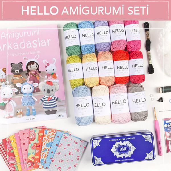 HELLO Amigurumi Seti