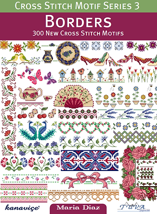 tuva publishing borders, cross stitch motif series 3 borders, 300 new cross stitch motifs, maria diaz book