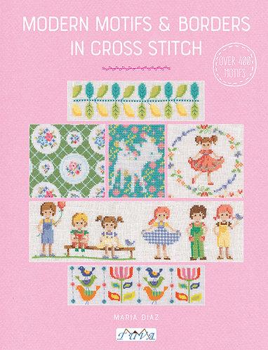 Modern Motifs & Borders in Cross Stitch