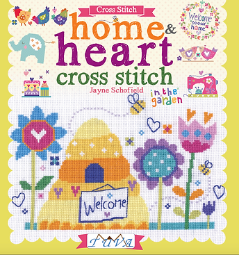 tuva publishing home heart, cross stitch home heart, jayne schofield