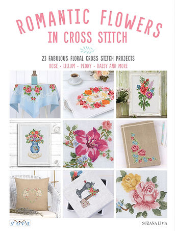 Romantic Flowers İn Cross Stitch
