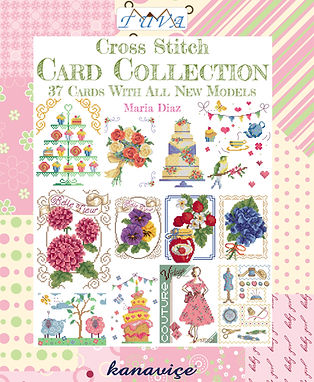 tua publishing card collection, cross stitch cards, cross stitch card collection, maria diaz