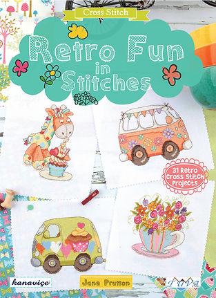 tuva publishing retro fun, cross stitch retro, retro fun in stitch, cross stitch, jane prutton