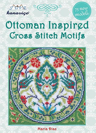 tuva publishing ottomann, cross stitch ottoman, ottoman inspired cross stitch motifs, maria diaz