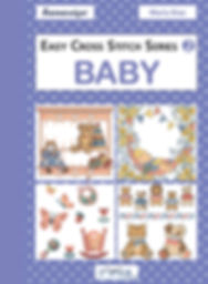 tuva publishing baby, easy cross stitch series 2 baby, cross stitch, maria diaz book
