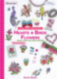 tuva publishing heart birds flowers, tuva publishing mini motifs, mini motifs heart birds flowers, cross stitch mini motifs, cross stitch, susan bates book