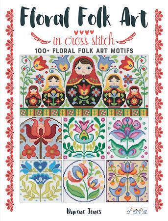 Floral Folk Art İn Cross Stitch