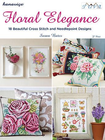 tuva publishing floral elegance, floral elegance, cross stitch floral elegance, cross stitch, susan bates
