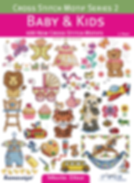 tuva publishing cross stitch motif series 2 baby and kids cross stitch, maria diaz book
