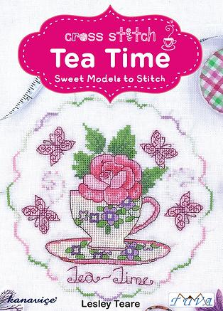 tuva publishing tea time, cross stitch tea time, lesley teare