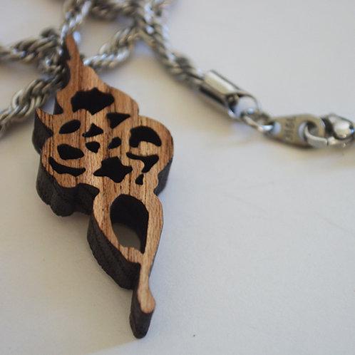 祈安 間伐材木製ペンダント KIAN Wooden Chain Necklace