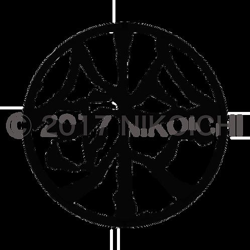鈴木 印影・墨色    SUZUKI Stamped image-black color