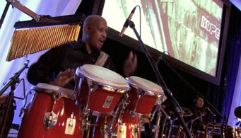 Percussionist Lawrence Sims