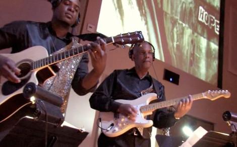Guitarist Left-Enoch Bosunga, Dr. Isidro Aybar Jr.