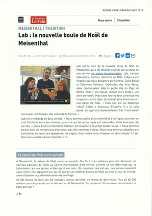 Républicain Lorrain - Novembre 2019