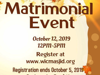 Matrimonial Event (Oct 12)