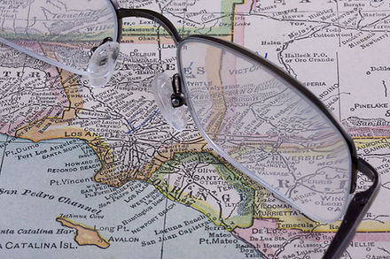 Map of West Coast and San Pedro