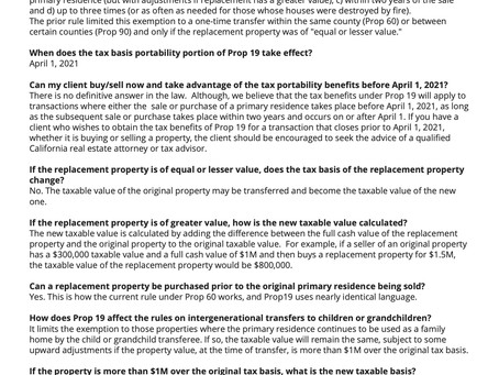 Proposition 19 & You!