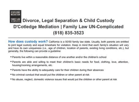 How Does Child Custody Work?