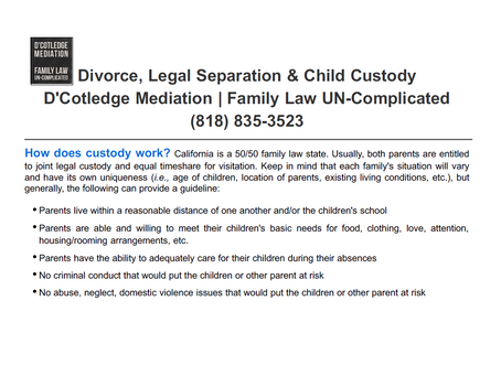 How Does Child Custody Work?