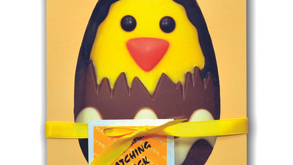 Flat Easter Hatching Chick