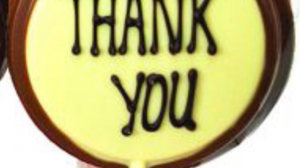 Thank You Chocolate Lolly