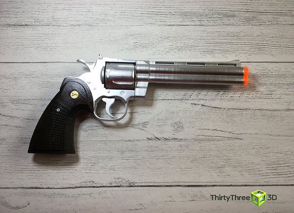 "Colt Python, 2.5"",3"",4"",6"",8"" Options, 3D Printed, Interchangeable Barrels"
