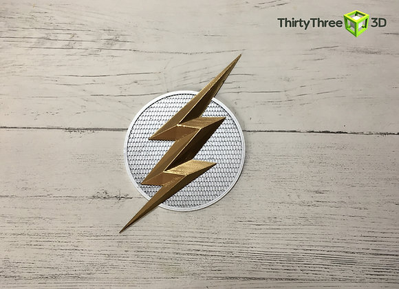 Flash Emblem/Badge Ezra Miller, Justice league. 3d Printed, Unofficial