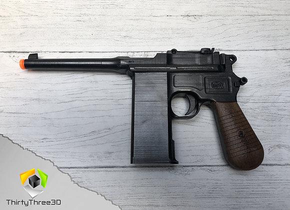 Mauser C96 Pistol, 3D Printed.