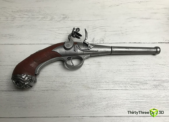 Queen Anne Flintlock Pistol, 3D Printed.