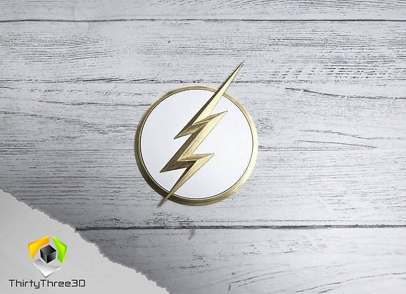 Flash Emblem/Badge, Zoom, Kid Flash, Reverse Flash, 3D Printed, Unofficial
