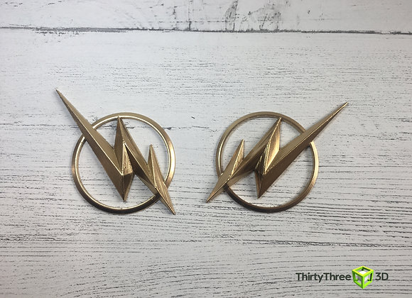 Flash Emblem/Badge, Helmet Ear Pieces  (Unofficial)