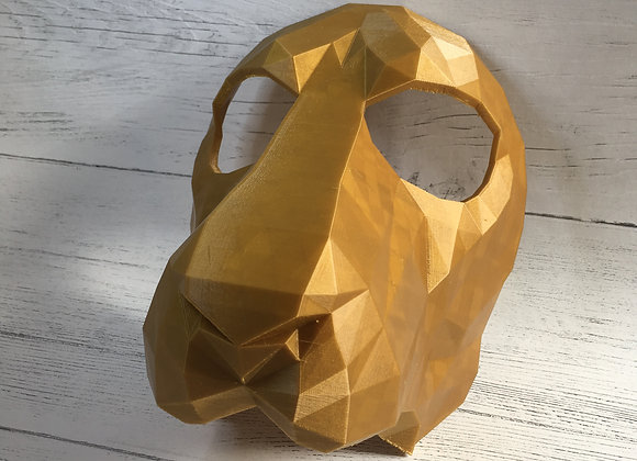 Big Cat Masks, Wearable, Low-Poly, 3D Printed.