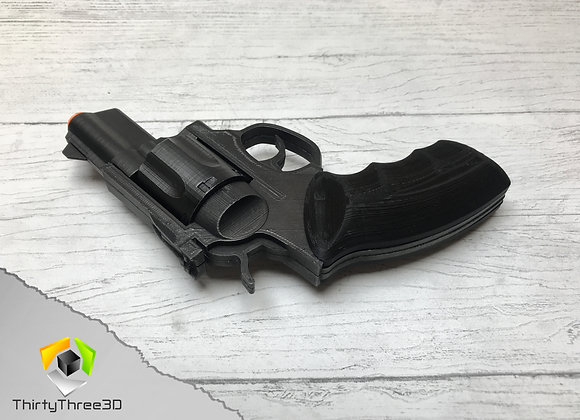 Ruger GP-100 Revolver, 3D Printed, interchangeable Barrels