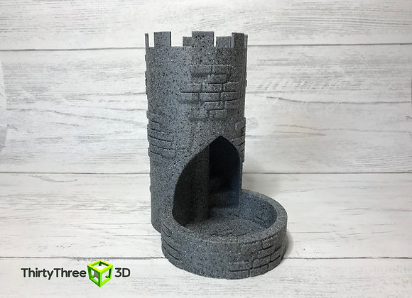 Dice Roller Castle Tower / Turret 3D printed