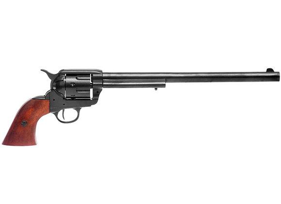 Black .45 Caliber Peacemaker Revolver Designed By S.Colt metal