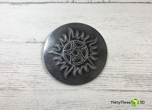 Anti-Possession Coaster, Supernatural, 3D Printed, (Unofficial)