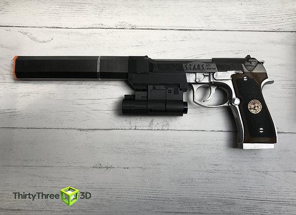 Albert Wesker M92, Resident Evil, 3D Printed, (Unofficial)