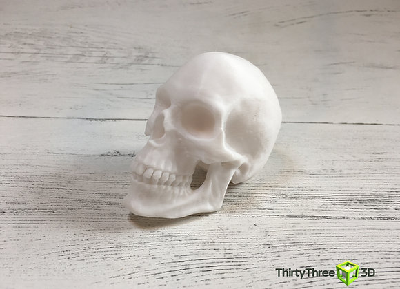 3D Printed Skull. Optional Glow in the Dark